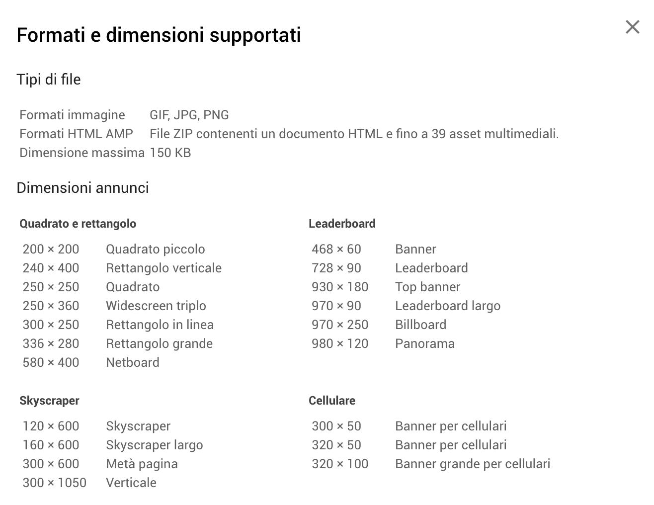 Formati-GoogleADS